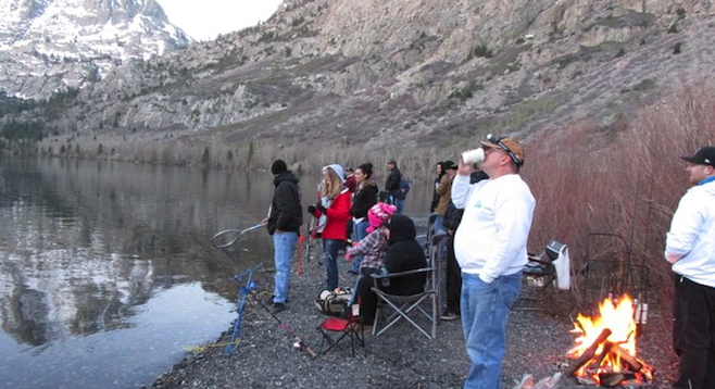 Early A.M. fishing at the Eastern Sierras' Silver Lake.