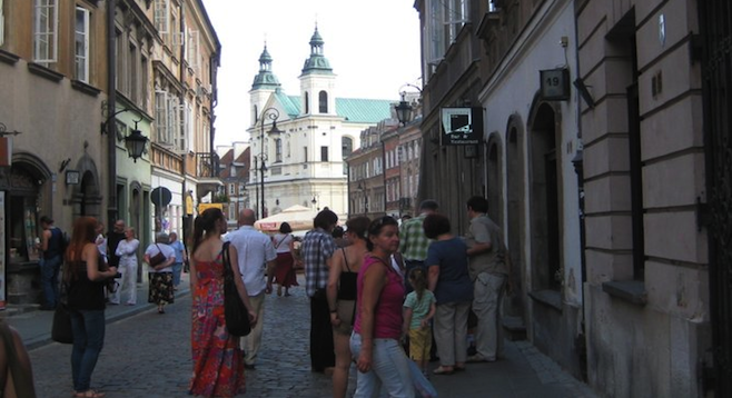 The streets of Warsaw's Old Town date to the 14th century.