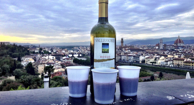 This view of magnificent Florence, Italy, doesn't get old – especially with a bottle of vino.