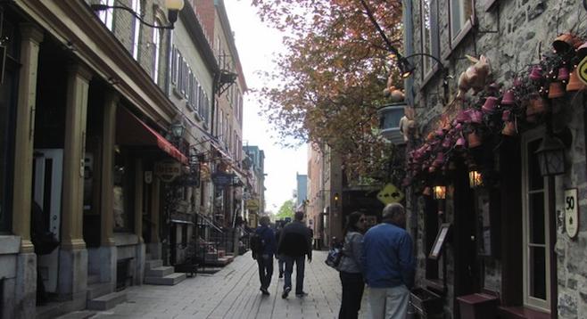 Québec City's decidedly Old-World Petit Champlain district.