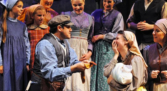 From individual voices to impressive choral effects, Lamb's Players' Fiddler is a treat throughout.