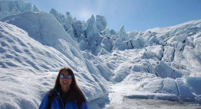 Mission accomplished: Matanuska icefall post-climb.