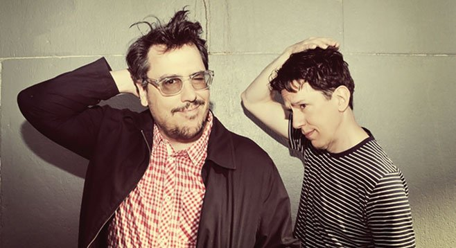 Odd-pop duo They Might Be Giants bounds onto the Belly Up stage Sunday night.
