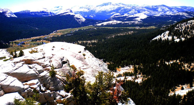 The view from Yosemite's Lembert Dome.