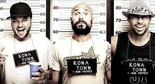 Reggae-rock trio Pepper livin' Hawaiian style in Oceanside.