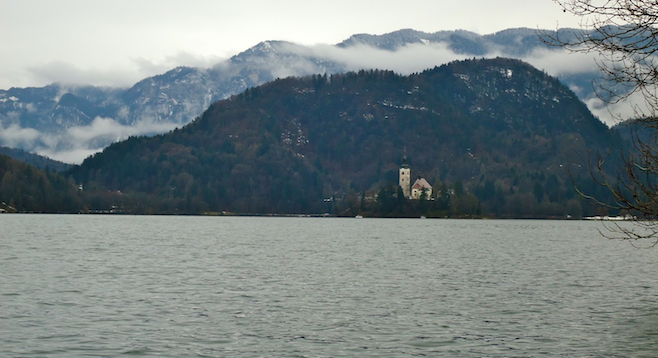 Slovenia's picturesque Lake Bled, complete with medieval church-topped island.