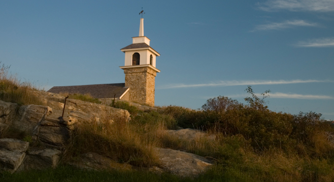Star Island, New Hampshire's 200-year-old Gosport Chapel.