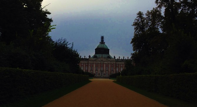 The baroque Neues Palais: hard to miss on a stroll through Sanssoucci Park.