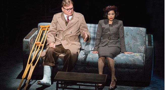 Murphy Guyer as Herbert Nirlinger and Angel Desai as Phyllis Nirlinger in the San Diego 