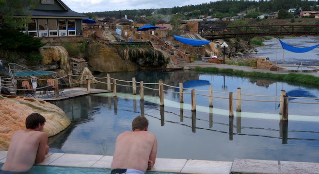 Soaking it all in at Pagosa's The Springs Resort & Spa.