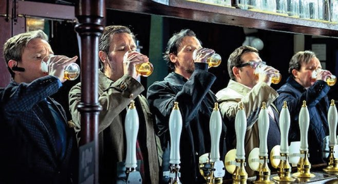 The World's End: Sending one down the hatch before everything goes down the tubes.