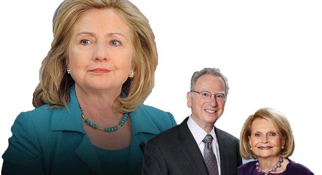 Hillary Clinton, Irwin and Joan Jacobs