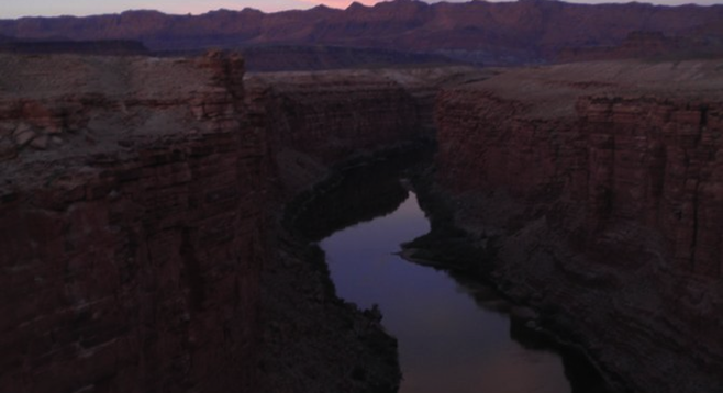 Dusk at Marble Canyon, on the Arizona-Utah border.