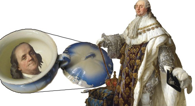King Louis XVI is said to have given a chamber pot bearing the likeness of Benjamin Franklin to a noblewoman who had bedded the American diplomat.