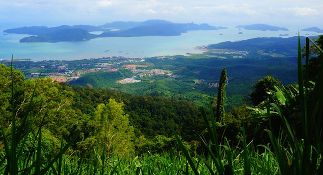 Looking south on the wonders of Malaysia from the top of Lungkawi's Gunung Raya.