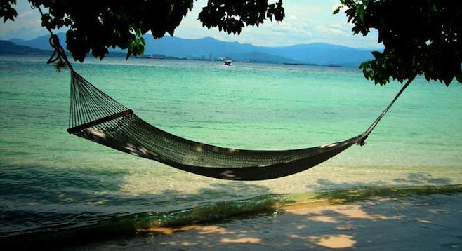 Private beach, Pulau Gaya.