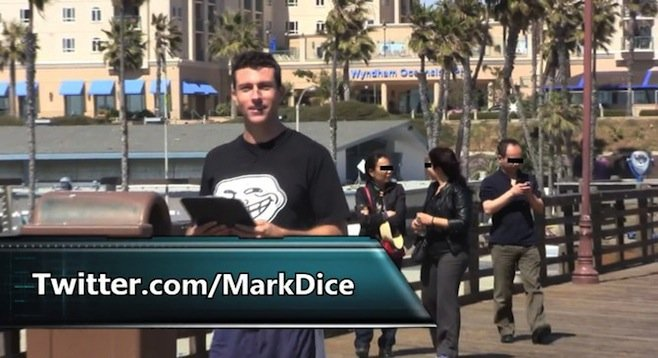 "It doesn't take much for political satirist Mark Dice to convince folks in Oceanside to support a ""Nazi Germany style police state."""