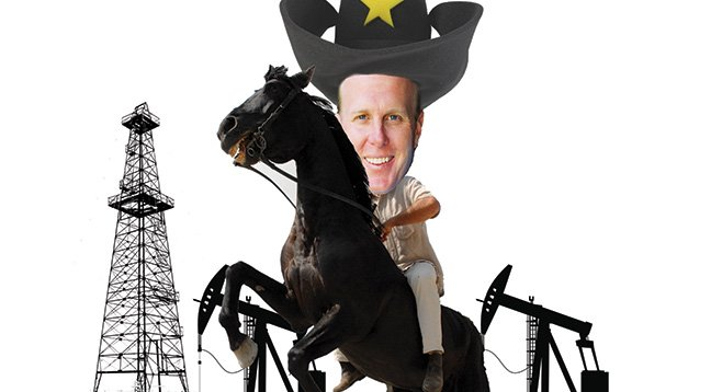 Kevin Faulconer is riding high on Texas oil money.