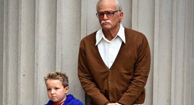 Jackson Nicoll and Johnny Knoxville on the road to bad taste in Jackass Presents: Bad Grandpa.