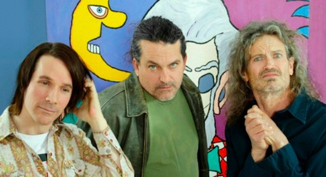 Desert-baked alt-rockers the Meat Puppets set up at Soda Bar Thursday night.