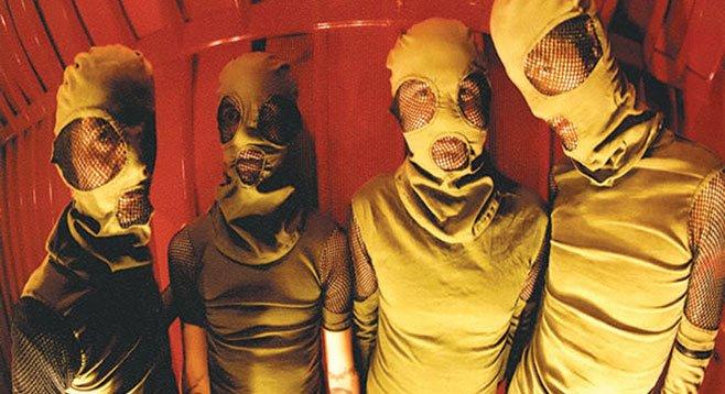 San Diego grindcore quartet the Locust swarms UCSD's Porter's Pub on Saturday.