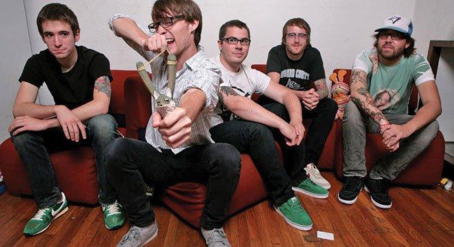 Pop-punk five-piece Polar Bear Club plays Irenic on Friday.