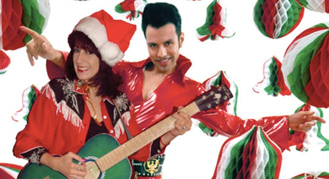 El Vez and Rosie Flores deliver a queso-filled Mexmas bill to Casbah Sunday night.