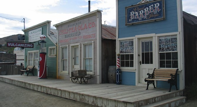 Randsburg's main drag, Butte Street, hasn't changed too much since the 1890s.