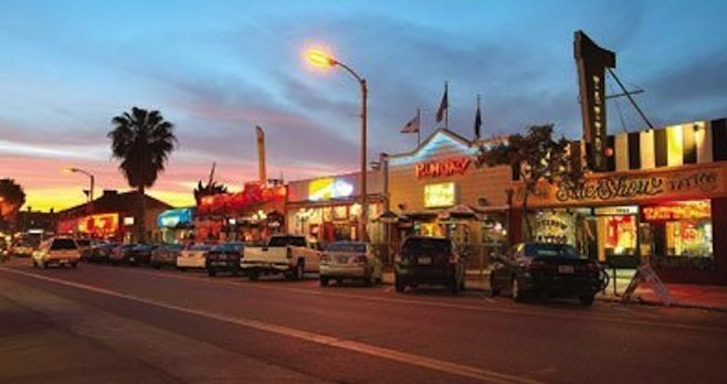 Some Pacific Beach residents claim that retail in the neighborhood's business districts cater to visitors and ignore residents.
