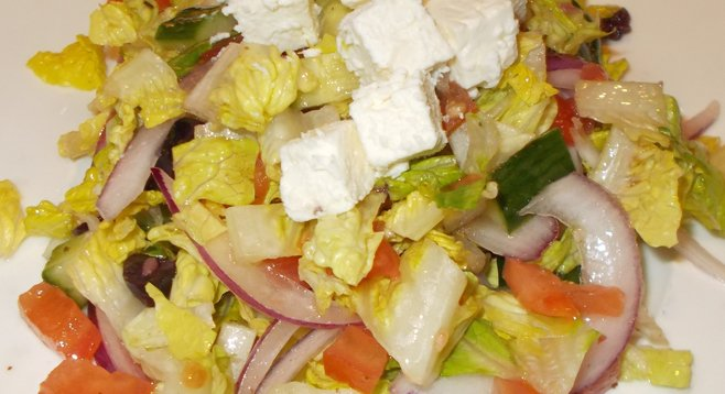 My chopped Greek salad