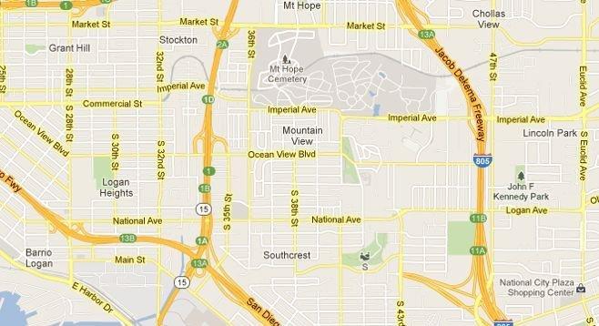 Reader Zip Code Map.The Whitening Of San Diego S 92113 Zip Code San Diego Reader