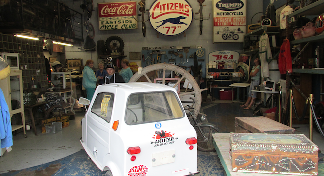 The interior of Antique Archaeology, home to discoveries from the show American Pickers.