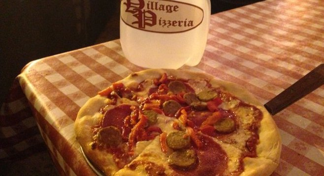 The New Yorker Pizza with water from New York City.