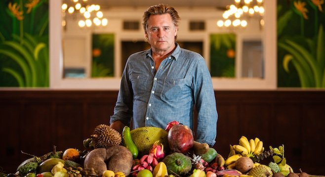 Bill Pullman, scanning the globe to bring you the constant variety of fruit, in Yung Chang's latest documentary.