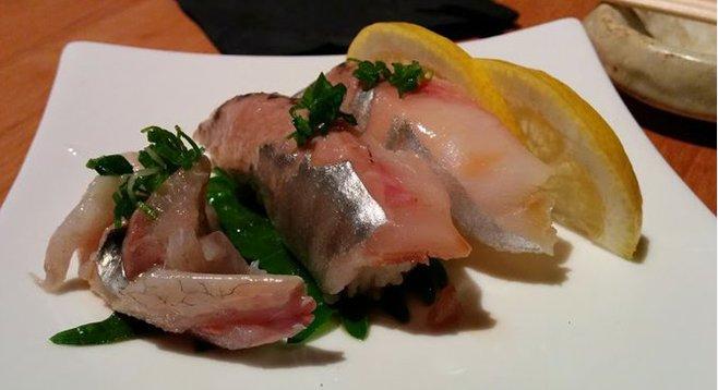 Spanish mackerel nigiri