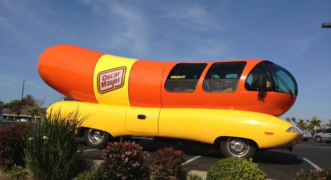 wienermobile takes san diego for a ride san diego reader. Black Bedroom Furniture Sets. Home Design Ideas