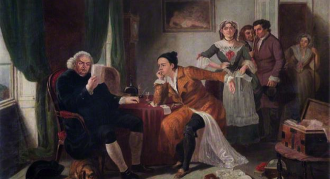 Johnson Reading the Manuscript of The Vicar of Wakefield, by E. M. Ward