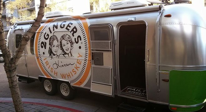 2 Gingers Airstream pub, parked in the Gaslamp.