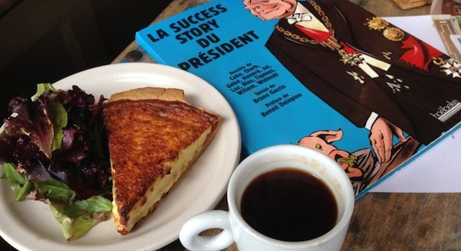 This quiche is better than yours. And Mine. Quiche Lorraine. Café Madeleine.