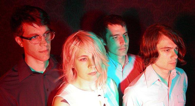 Philly fuzz-rock quartet Bleeding Rainbow take the stage at Soda Bar Thursday night.