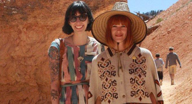 Rebecca Boland and Samantha Clark