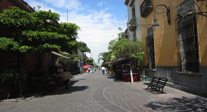 Artist studios and galleries line Independencia in Guadalajara's Tlaquepaque neighborhood.