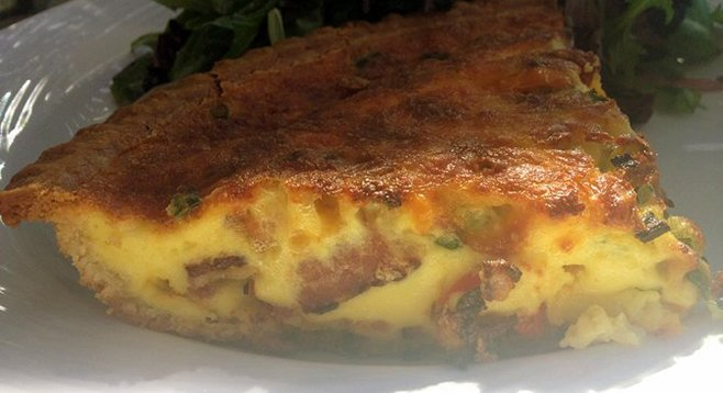 Daily quiche (bacon and roasted red pepper)