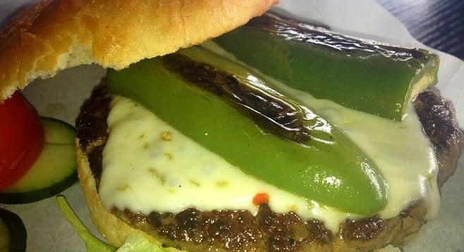 Jalapeño burger, Bruski's.