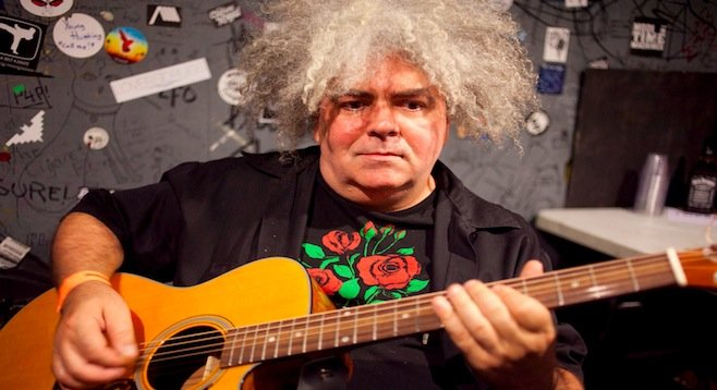 King Buzzo Osborne of the Melvins unplugs at Casbah Tuesday night.
