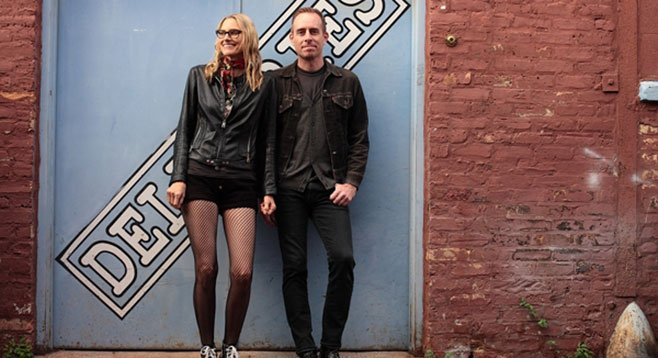 Aimee Mann and Ted Leo are pop-rock pair the Both. They'll be at Belly Up behind their debut record on Sunday night.