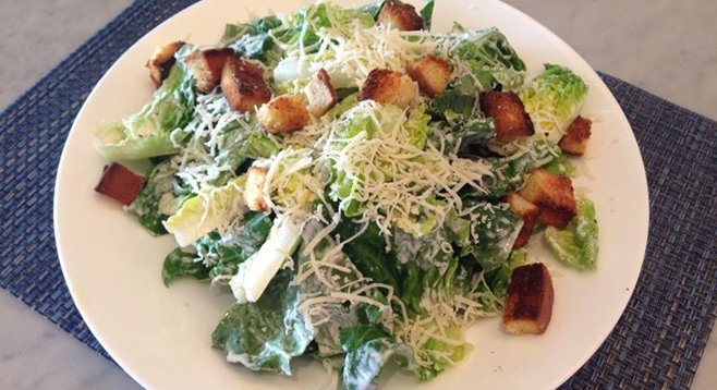 Caesar Salad at Sheerwater restaurant at the Hotel Del Coronado