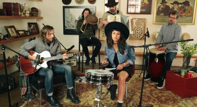 From Detroit, soul-rock sextet Jessica Hernandez & the Deltas roll into the Soda on Sunday.