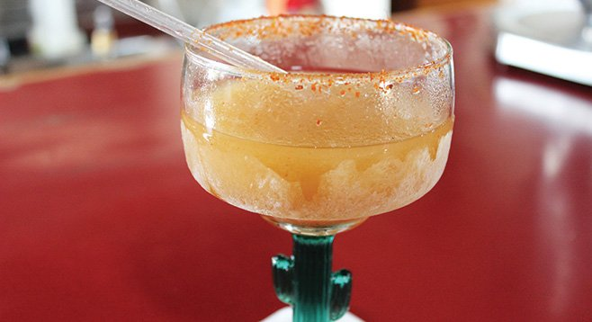 Tamarindo slushy at Chiquita's Mexican Food