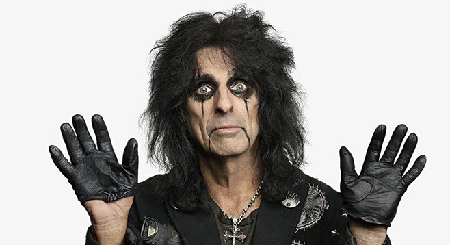 The godfather of shock rock, Alice Cooper, rolls into the Sleep Train Amphitheatre Wednesday night.